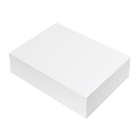 Realistic White Package Box  For Software, electronic device and other products  Vector illustration