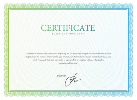 diploma border: Certificate  Vector pattern that is used in currency and diplomas