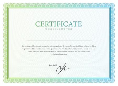 Zertifikat Vektor-Muster, die in der W?hrung und Diplome verwendet wird Standard-Bild - 20428192