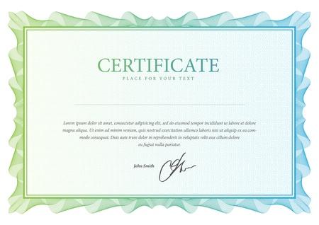 certificado: Vector patr?ertificado que se utiliza en moneda y diplomas Vectores