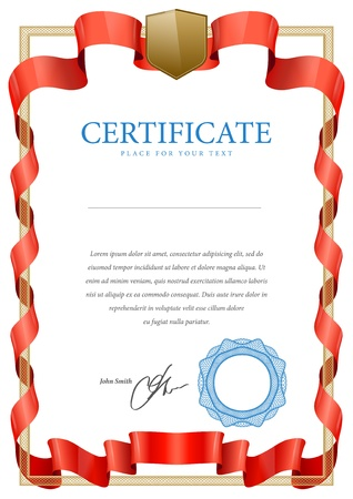 stock certificate: Certificate  Vector pattern that is used in currency and diplomas