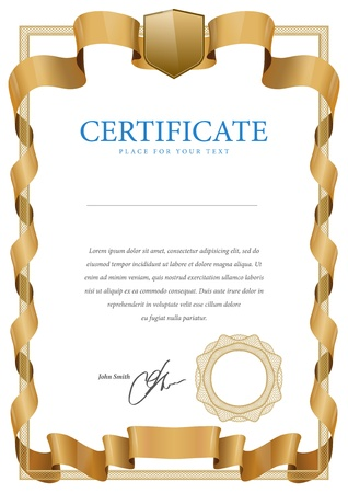 Certificate  Vector template that is used in currency and diplomas Stock Vector - 20985683
