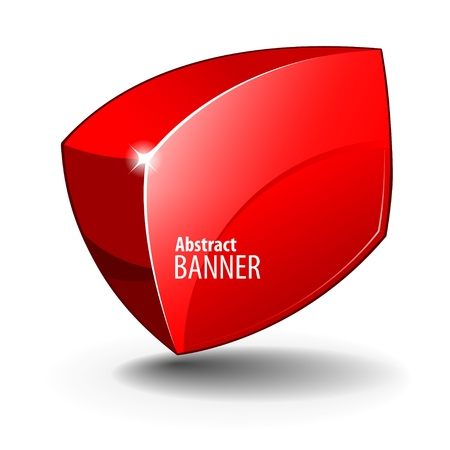 Red elegant Shiny Glass Banner Vector