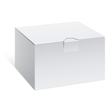 Realistic White Package Box. For electronic device and other products. Vector illustration.
