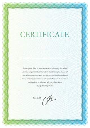 Certificate. Vector pattern that is used in currency and diplomas Stock Vector - 20985805