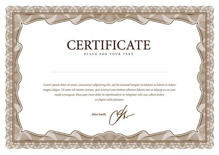 証明書。通貨と卒業証書で使用されるベクトル パターン  イラスト・ベクター素材