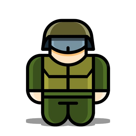 soldier toy  vector icons Vector