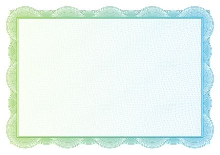 Certificate  Vector pattern that is used in currency and diplomas Stock Vector - 21527503