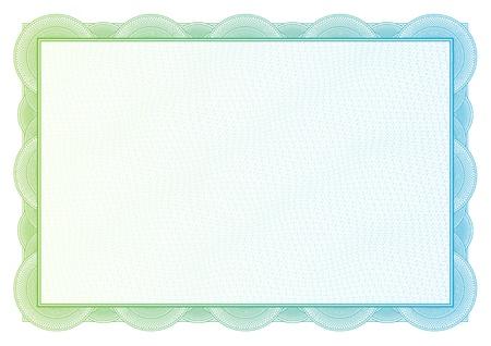 Zertifikat Vektor-Muster, die in der W?hrung und Diplome verwendet wird Standard-Bild - 21527503