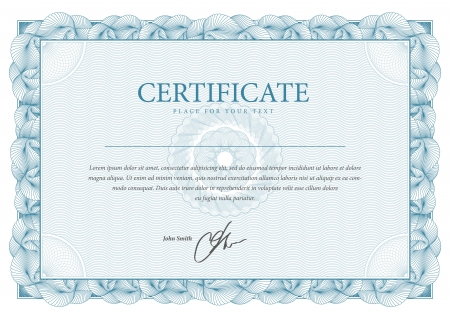 Certificaat Vector patroon dat wordt gebruikt in chartaal geld en diploma's Stock Illustratie