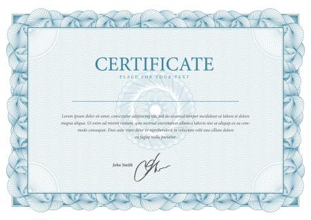 Certificat Vector modèle qui est utilisé dans la monnaie et diplômes Banque d'images - 21527504