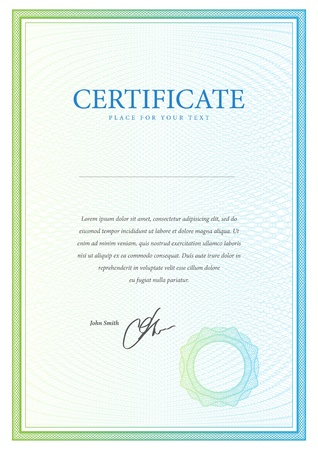 certificate design: Certificate  Vector pattern that is used in currency and diplomas