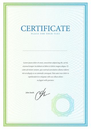 diploma: Vector patr?n certificado que se utiliza en moneda y diplomas