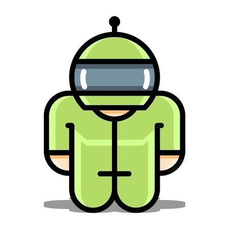 cyborg: Robot iconos vectoriales de juguete Cyborg