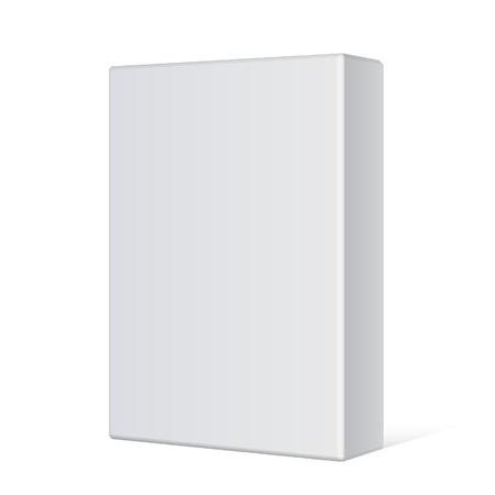 Realistische Wit Pakket Box Voor software, elektronisch apparaat en andere producten Vectorillustratie