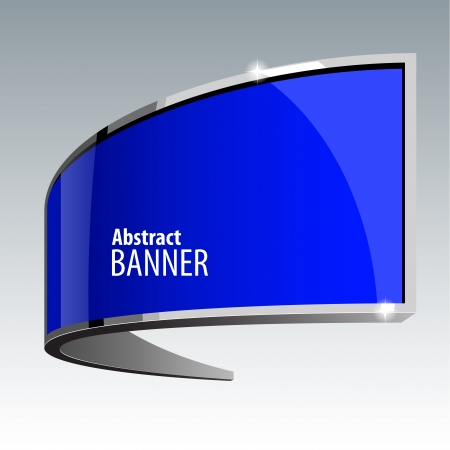gloss banner: Shiny gloss blue vector banner eps 10