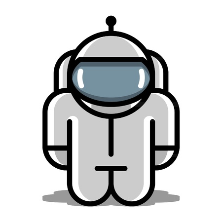 web robot: astronaut robot toy  vector icons