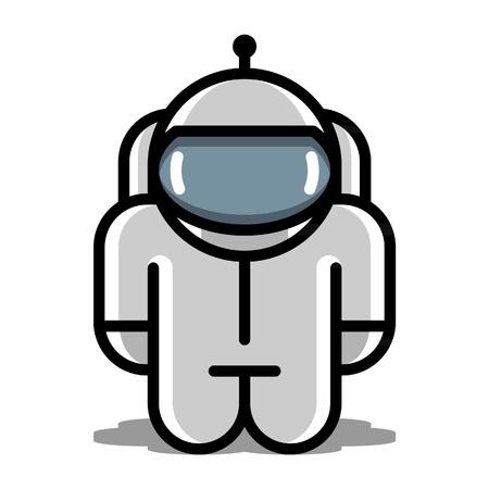 bionico: astronauta robot giocattolo icone vettoriali Vettoriali