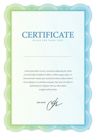 Plantilla que se utiliza en el certificado, la moneda y diplomas ilustraci?n vectorial Foto de archivo - 21990422