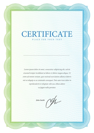 Template that is used in certificate, currency and diplomas  Vector illustration