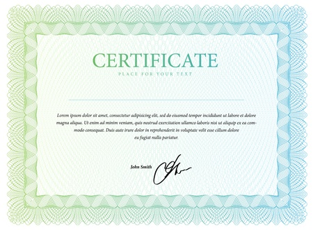 certificates: Template that is used in certificate, currency and diplomas  Vector illustration