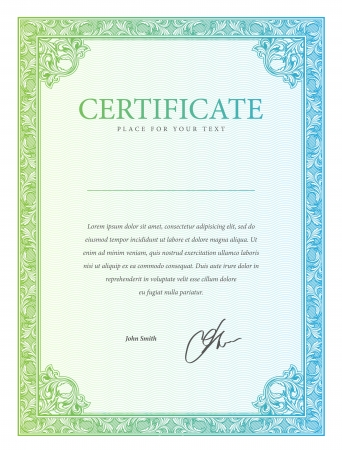 certificates: Certificate  Vector pattern that is used in currency and diplomas