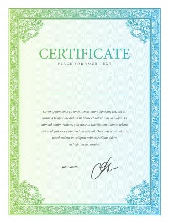 plantilla: Vector patr?n certificado que se utiliza en moneda y diplomas
