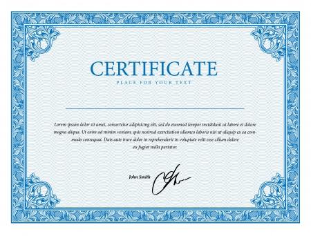 plantilla: Plantilla de certificado, la moneda y los títulos. Ilustración vectorial Vectores