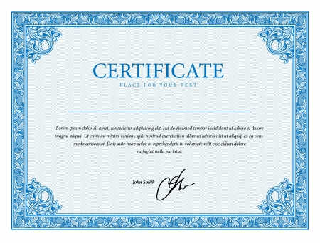 Template certificate, currency and diplomas. Vector illustration