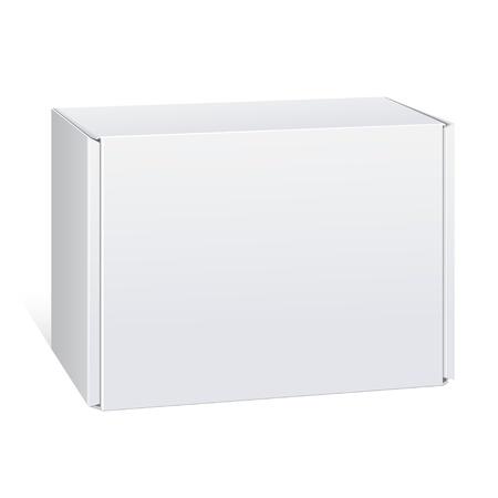 Realista paquete de la caja blanca. Para el software, los dispositivos electrónicos y otros productos. Ilustración del vector. Foto de archivo - 22712752