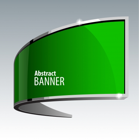 gloss banner: Shiny gloss green vector banner eps 10