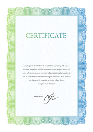 sertificate: Template certificate, diplomas and currency. Vector illustration Illustration