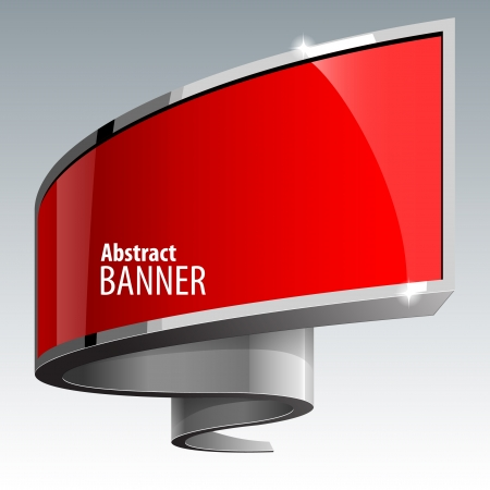 gloss banner: Shiny gloss red vector banner eps 10 Illustration