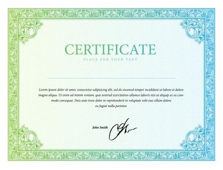 Template Grenze Diplome, Prüfungszeugnisse und Währung. Vektor-Illustration Standard-Bild - 22713238