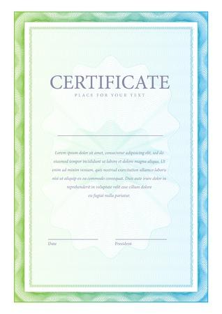 Certificate. Vector pattern Vector