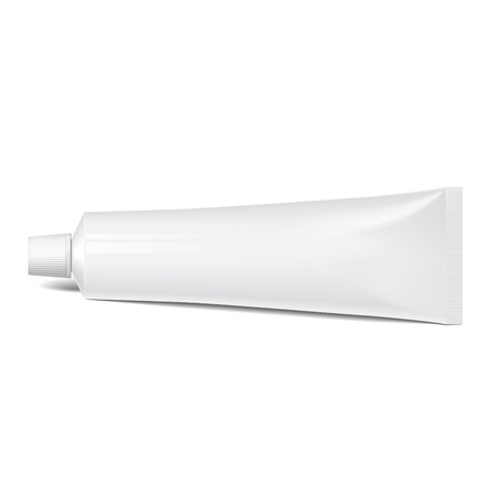 Realistic tube. For cosmetics, cream, tooth paste Illustration