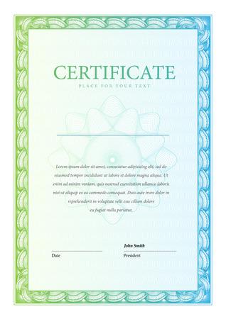 diploma: Certificado. Vector patr�n que se utiliza en moneda y diplomas