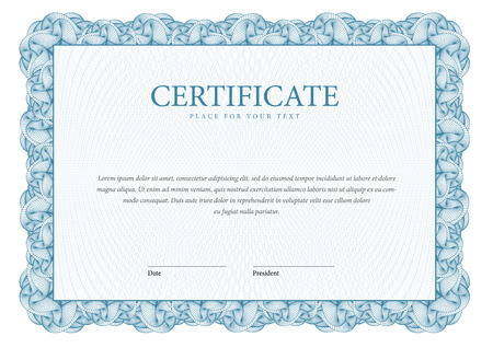 diploma: Certificate. Template diplomas, currency. Vector