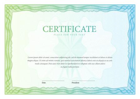 sertificate: Certificate. Template diplomas, currency. Vector