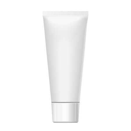 Realistic white tube. For cosmetics, ointments, cream, tooth paste, glue Vector.elements Vector