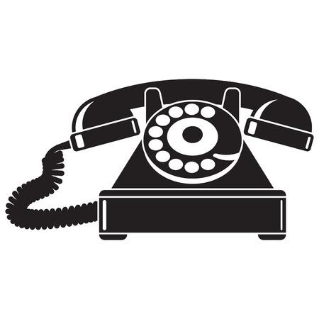 Old telephone 40-50s.  Illustration