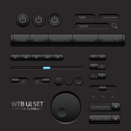Black Web UI Elements.