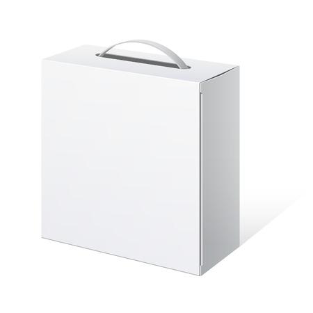 Opakowanie kartonowe pudełko z uchwytem Ilustracje wektorowe