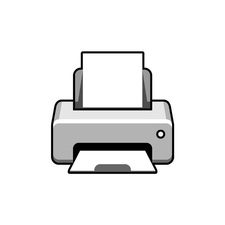 color printer: Realistic printer icon