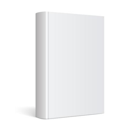 sjabloon: Light Realistische Blank cover van het boek vector illustratie