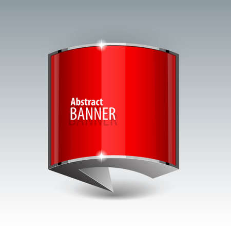 gloss banner: Shiny gloss red vector banner.  Illustration