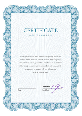 money border: Certificate. Template diplomas, currency. Vector