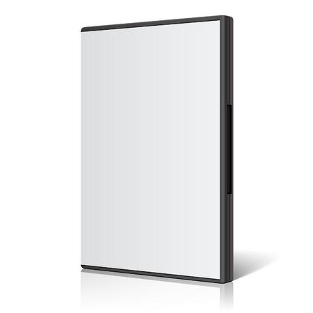 cd case: Cool Realistic Case for DVD Or CD Disk. Vector Illustration Illustration