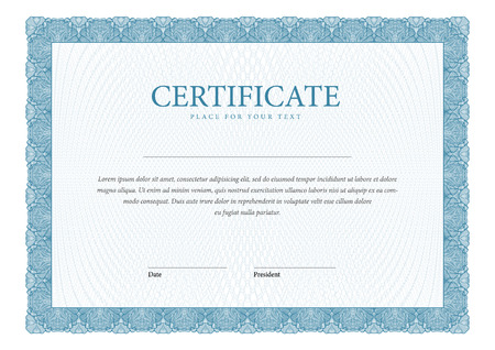border: Certificate. Template diplomas, currency. Vector