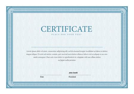 template Certificate and diplomas